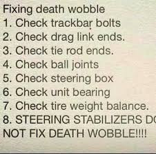 Steering - Death Wobble Fix