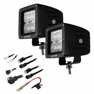 Heise - 3 INCH 6 LED CUBE 2 LIGHT KIT:  Fits All Jeeps
