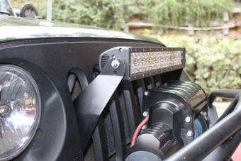 "Lifetime LED - JK 21.5"" GRILL MOUNT PACKAGE DUAL ROW"