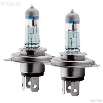 PIAA - Replacement Halogen Headlight Bulbs H4 for Wranglers with converted headlight housings.
