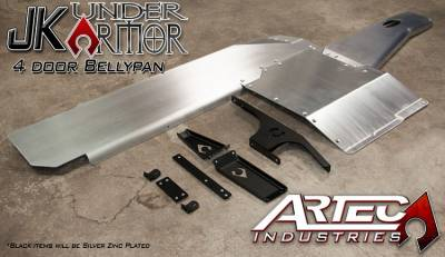 Artec Industries - JK UNDER ARMOR - Four door Bellypan Kit 12-17