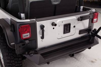 Fab Fours - JEEP JK REAR BASE BUMPER