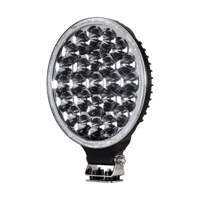 Heise - 9 INCH ROUND DRIVING LED LIGHT:  Fits All Jeeps