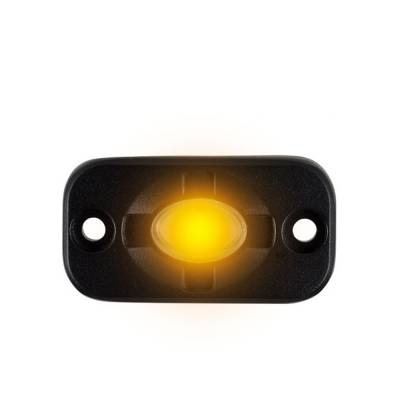 Heise - 1.5 x 3 INCH AMBER AUXILLARY ACCENT LIGHTING POD
