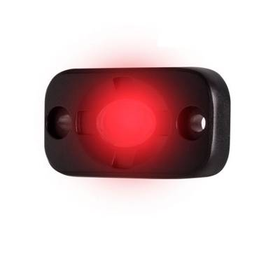 Heise - 1.5 x 3 INCH RED AUXILIARY ACCENT LIGHTING POD