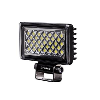 Heise - 3.625 x 2 INCH RECTANGLE WORK LED LIGHT:  Fits All Jeeps