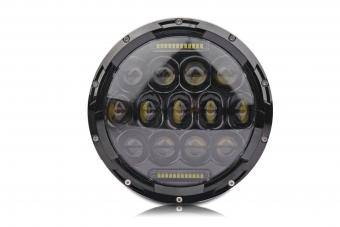 Lifetime LED - Full replacement Headlamp for JK JEEP LED HEADLIGHTS 7 INCH ROUND Black Multi Aluminum