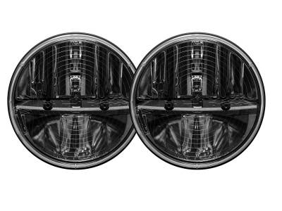 """Rigid Industries - Headlight Replacement 7"""" Round w/H13 to H4 Adapters for JK Wrangler 07+."""