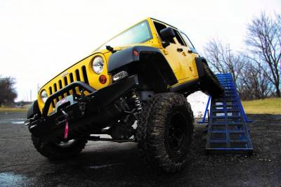"ZONE OFFROAD PRODUCTS - Zone 07-17 Jeep Wrangler JK 4"" Suspension System W/ Fox Adventure Series Shocks & Stabilizer"