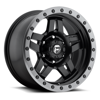 Fuel Off-Road - Fuel Anza D557 Matte Black w/ Anthracite Ring