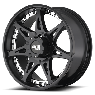 MOTO-METAL - Moto Metal MO956 17 X 9 MATTE BLACK W/ MACHINED LIP