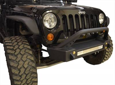 Bumper & Body - Ace Engineering - Ace Engineering - JK Bumper and LED Light Combo Bull Bar