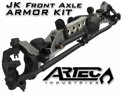 Trusses - Artec Industries - Artec Industries - JK Front Axle ARMOR KIT