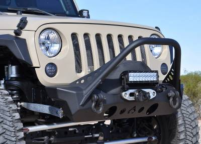 Bumper & Body - Artec Industries - Artec Industries - Nighthawk JK Front Bumper with Mid Tube Stinger