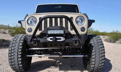 Artec Industries - Nighthawk JK Front Bumper with Mid Tube Stinger - Image 2