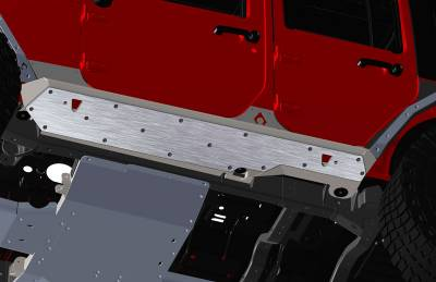 Artec Industries - JKU NightHawk Sliders Rock Guard Kit - Image 2