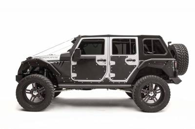 Bumper & Body - Fab Fours - Fab Fours - JEEP JK Rear Door Skins