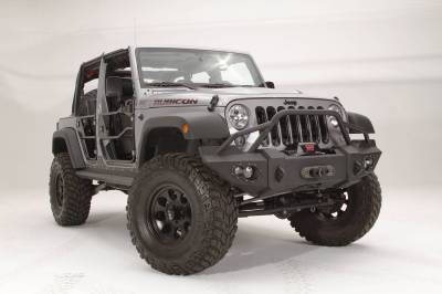 Bumper & Body - Fab Fours - Fab Fours - JK LIFESTYLE WINCH BUMPER W/ GUARD