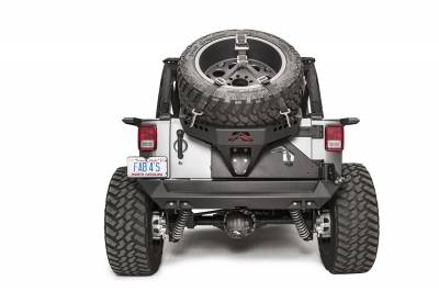 Bumper & Body - Fab Fours - Fab Fours - JK SLANT BACK TIRE CARRIER