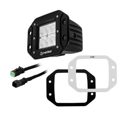 Heise - 3 INCH 6 LED FLUSH MOUNT CUBE LIGHT:  Fits All Jeeps