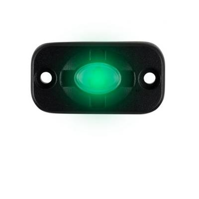 Heise - 1.5 x 3 INCH GREEN AUXILIARY ACCENT LIGHTING POD