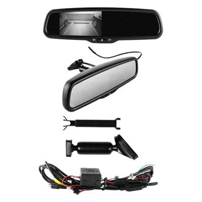 Backup Camera - iBeam - iBeam - VIEW MIRROR WITH 4.3in VIDEO SCREEN