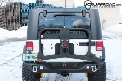 JCR OFFROAD - JK Tire Carrier Adventure Jeep Wrangler (07-16) - Image 2