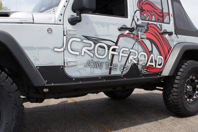 JCR OFFROAD - JKU Rock Sliders Crusader 4 Door Jeep Wrangler (07-16) - Image 2