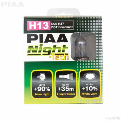 PIAA - Replacement Halogen Headlight Bulbs H13 for 07+ Jeep Wrangler. - Image 2