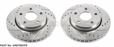 Brakes - Rotors & Pads - Power Stop - Power Stop FRONT Drilled & Slotted Performance Rotors 07+ JEEP Wrangler AR8780XPR