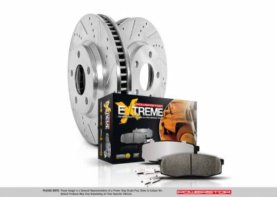 Power Stop - Power Stop Big Brake Upgrade Kit Jeep JK Front and Rear NO CALIPERS 07-17 K2798-36