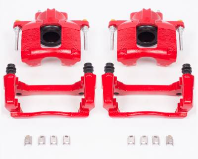 Power Stop - REAR JK Power Stop Performance Calipers - Powder Coated Red - Image 2