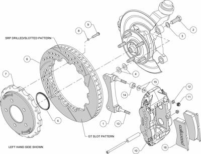 Wilwood - WilWood Forged Narrow Superlite 4R Complete Brake Kit  07+ JEEP JK - FRONT Replacement - Image 3