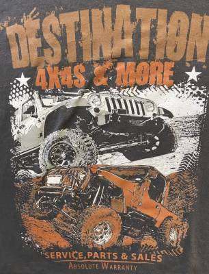 Gifts - Apparel - Destination 4x4s and More - T-Shirt Grey w/Rust