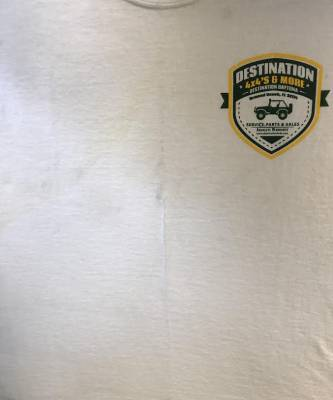 Destination 4x4s and More - T-Shirt White w/Badge