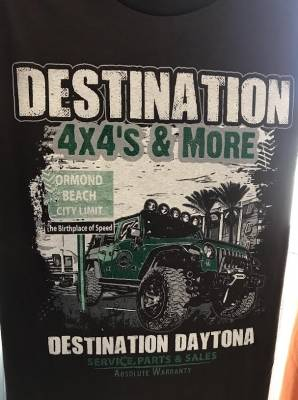 Gifts - Apparel - Destination 4x4s and More - T-Shirt Brown Ormond Beach