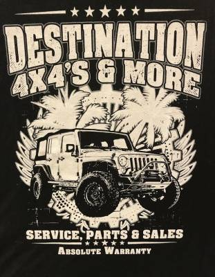 Destination 4x4s and More - T-Shirt Black/White 2 Sided - Image 1