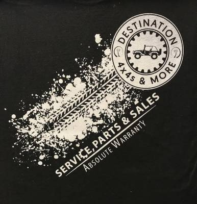Destination 4x4s and More - T-Shirt Black/White 2 Sided - Image 2