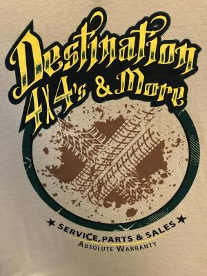 Destination 4x4s and More - T-Shirt Tan w/Yellow