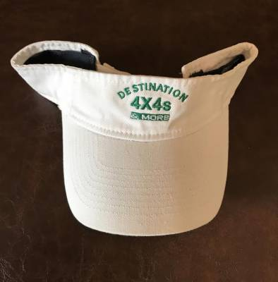 Destination 4x4s and More - White Logo Visor