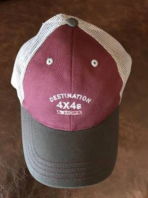 Destination 4x4s and More - Maroon/Grey Trucker Hat