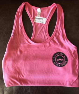 Gifts - Apparel - Destination 4x4s and More - Womens Pink Racer Back Tank Top