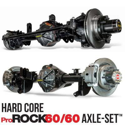 Axle & Drivetrain - Upgrade to 1 tons - Front & Rear Bolt In Axles