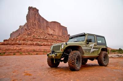 "ZONE OFFROAD PRODUCTS - Zone 07-17 Jeep Wrangler JK 4"" Suspension System W/ Fox Adventure Series Shocks & Stabilizer - Image 2"