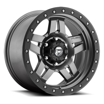Fuel Off-Road - Fuel Anza D558 Matte Anthracite w/ Black Ring