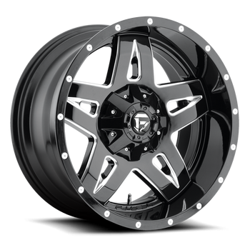 Wheels - Fuel Offroad - Fuel Off-Road - Fuel Full Blown D554 Offset Black and Milled
