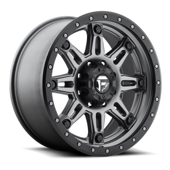 Wheels - Fuel Offroad - Fuel Off-Road - Fuel Hostage III D568 Matte Anthracite w/ Black Ring