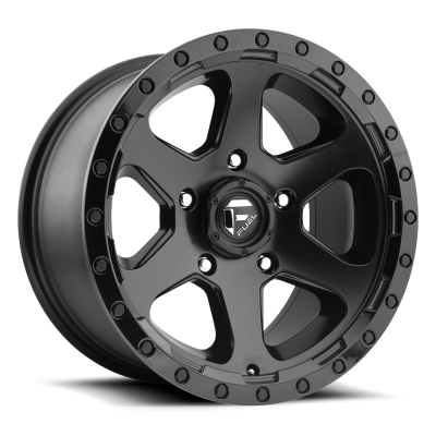 Wheels - Fuel Offroad - Fuel Off-Road - Fuel Ripper D589 Matte Black | Gloss Black Lip