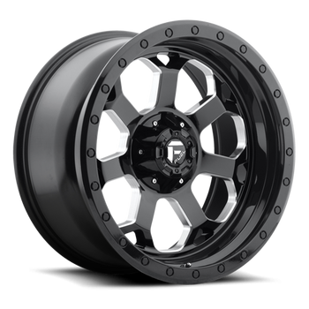 Wheels - Fuel Offroad - Fuel Off-Road - Fuel Savage D563 Gloss Black w/ Milled Through Windows