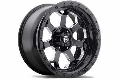 Wheels - Fuel Offroad - Fuel Off-Road - Fuel Savage D565 Matte Black w/ Milled Through Windows & Ring